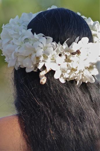 Couronne Tahitienne En Fleurs Roses Idee D Image De Fleur